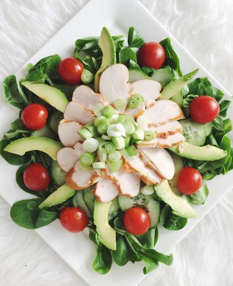 Recept: Salade gerookte kip & avocado