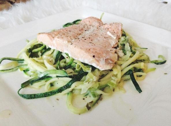 Recept: Courgetti met zalm