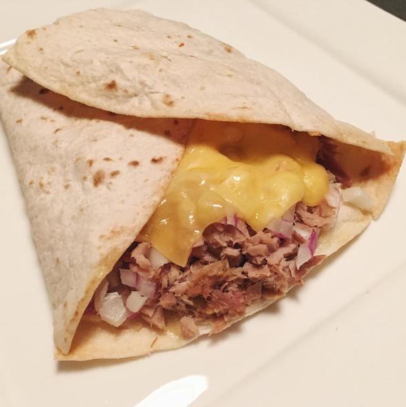 Recept: Tuna melt wrap