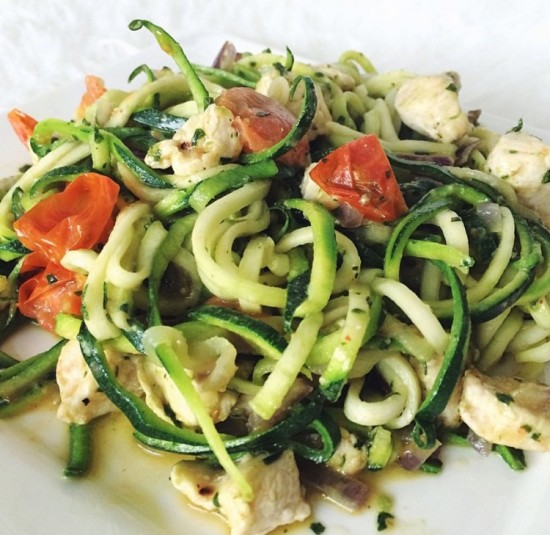 Recept: Courgetti Kip Pesto