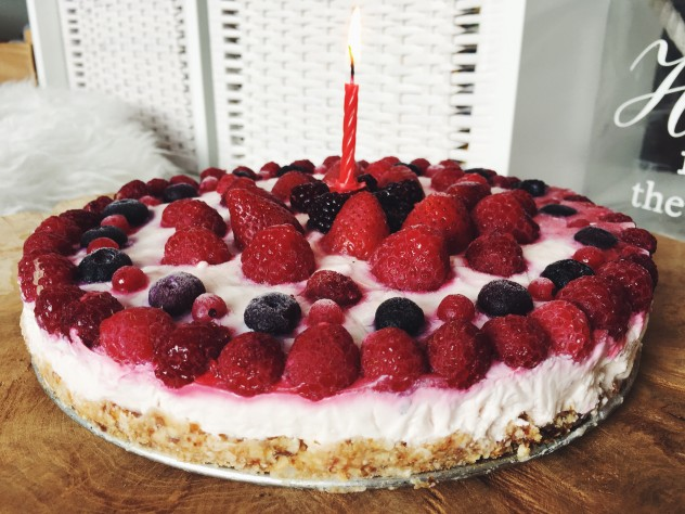 Recept: Frambozen ricotta-yoghurt taart