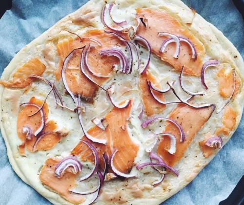 Recept: Zalm flammkuchen