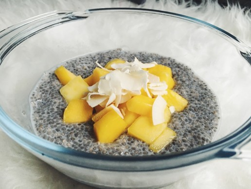 Recept: Overnight Kokos-Mango chia pudding