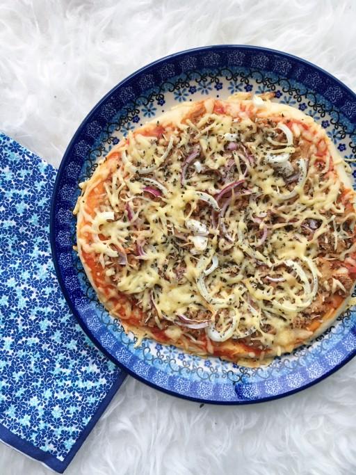 Recept: Bloemkool pizzabodem – Tonijn
