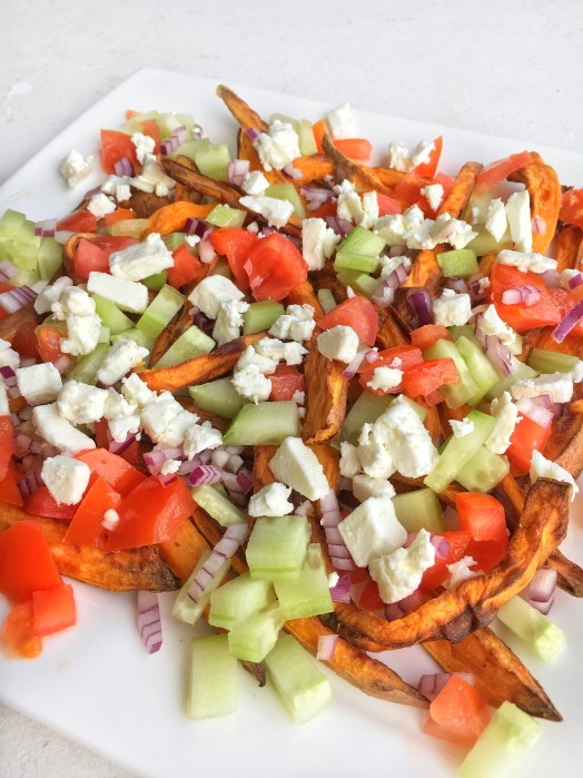 Recept: Zoete aardappel friet met feta